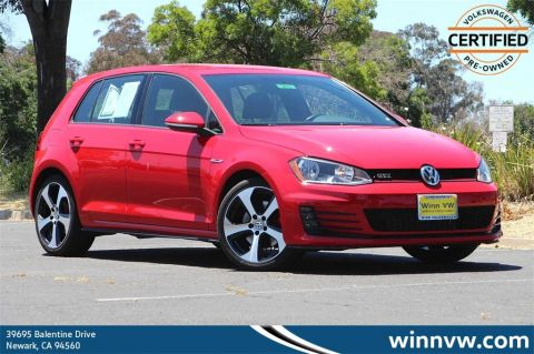 Certified Pre-Owned 2017 Volkswagen Golf GTI S FWD 4D Hatchback